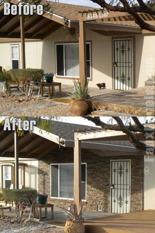 Beautiful customer home exterior. #faux #stone #panels | Design ...
