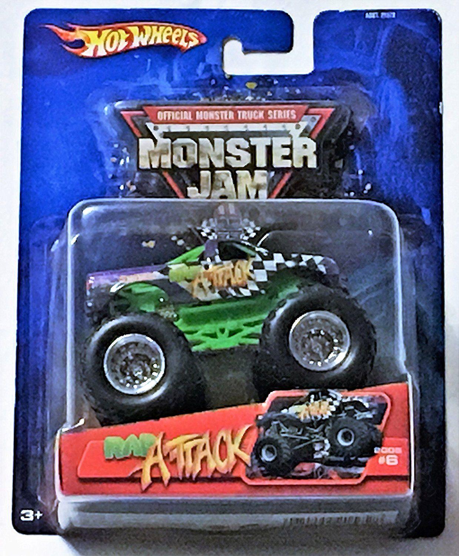 Amazon Com 2005 Hot Wheels 1 64 Scale Monster Jam Monster Truck 6 Rap Attack Toys Games Hot Wheels Hot Wheels Monster Jam Monster Trucks