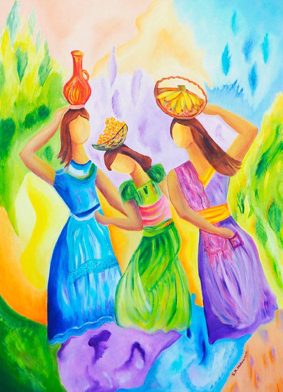 Oil Painting On Large Canvas  Original Women by ShoshanaMoreArt