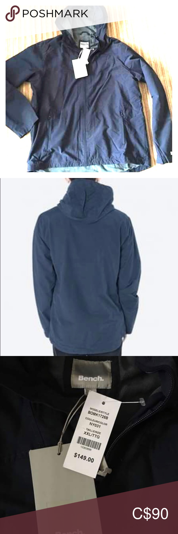Men S Bench Jacket Size Xxl New With Tags Bench Jackets Clothes Design Jackets [ 1740 x 580 Pixel ]