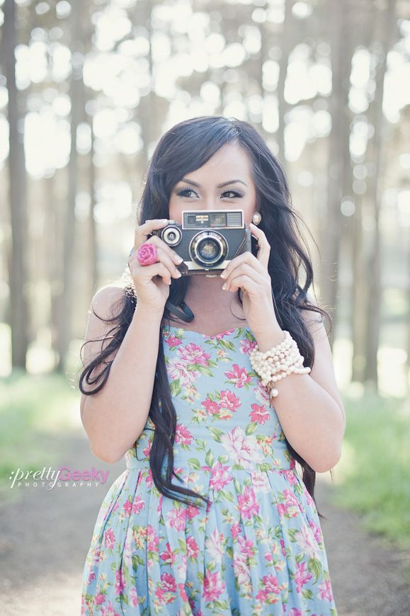Vintage Camera Portrait (Pretty Geeky Photography)
