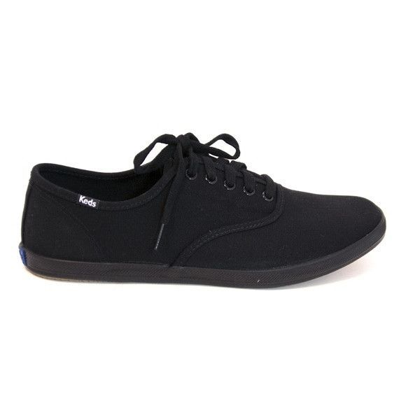 6eb900d8e59c84 Keds Champion Mens - Black Black Slim Lace-Up Sneaker