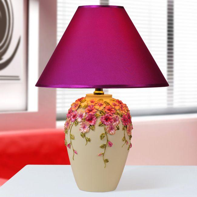Modern Carved Pansy Flower Bedroom Desk Lamp Fashion Luminaria De ...