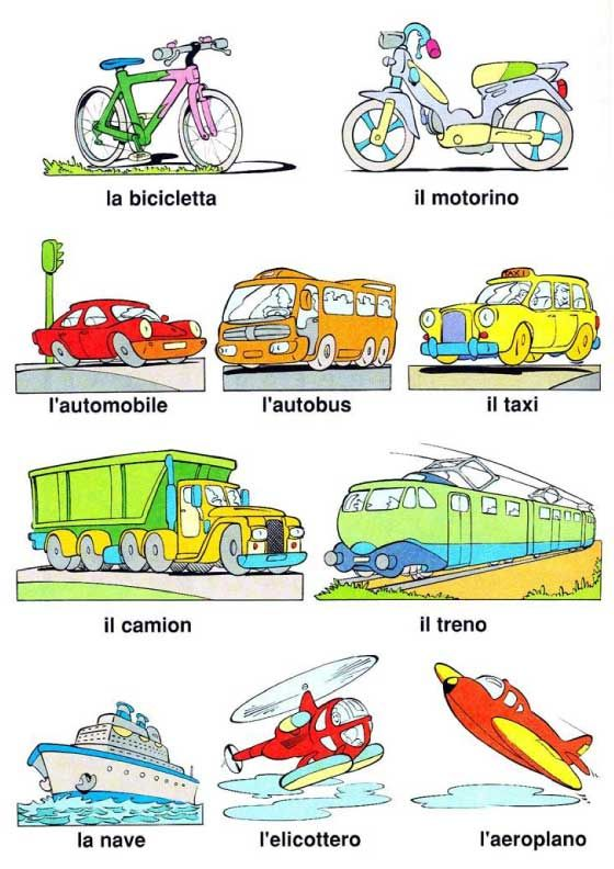 English In Italian: Learning Italian - Transportation