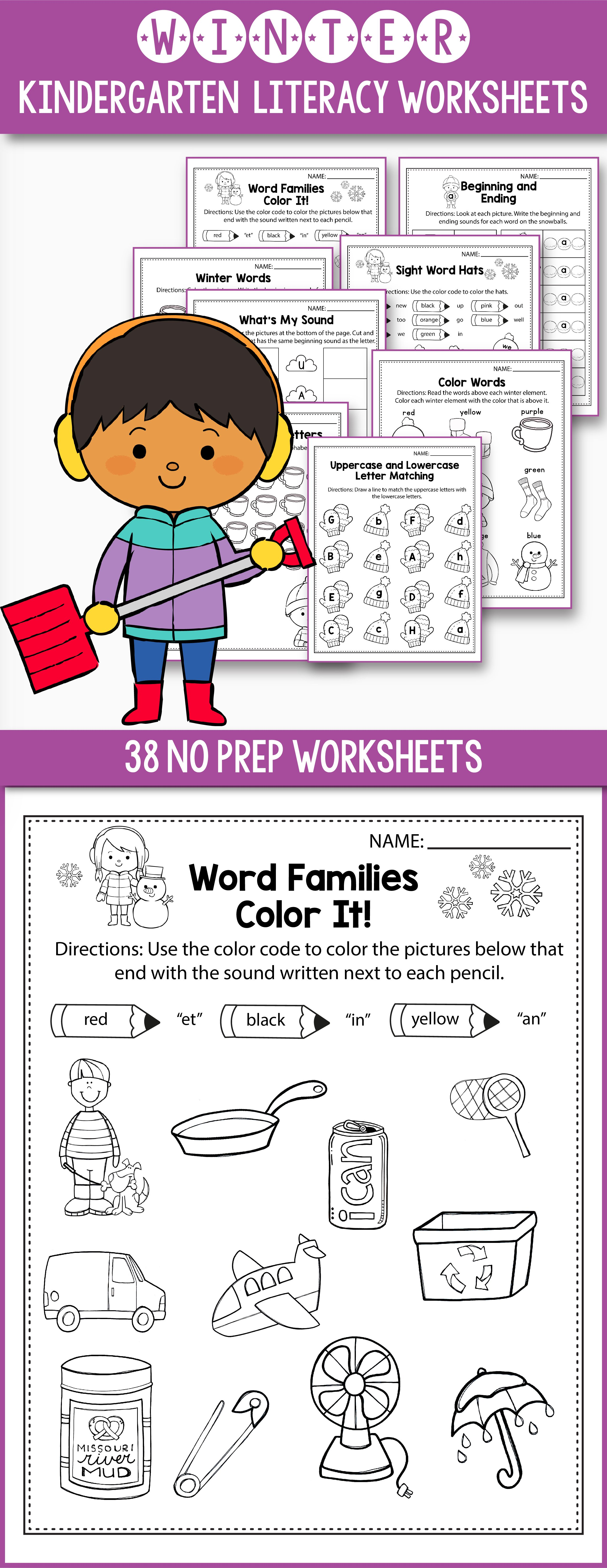 worksheet Cvc Word Worksheets winter activities for kindergarten literacy no prep novemberfun printable worksheets and first grade color by cvc word