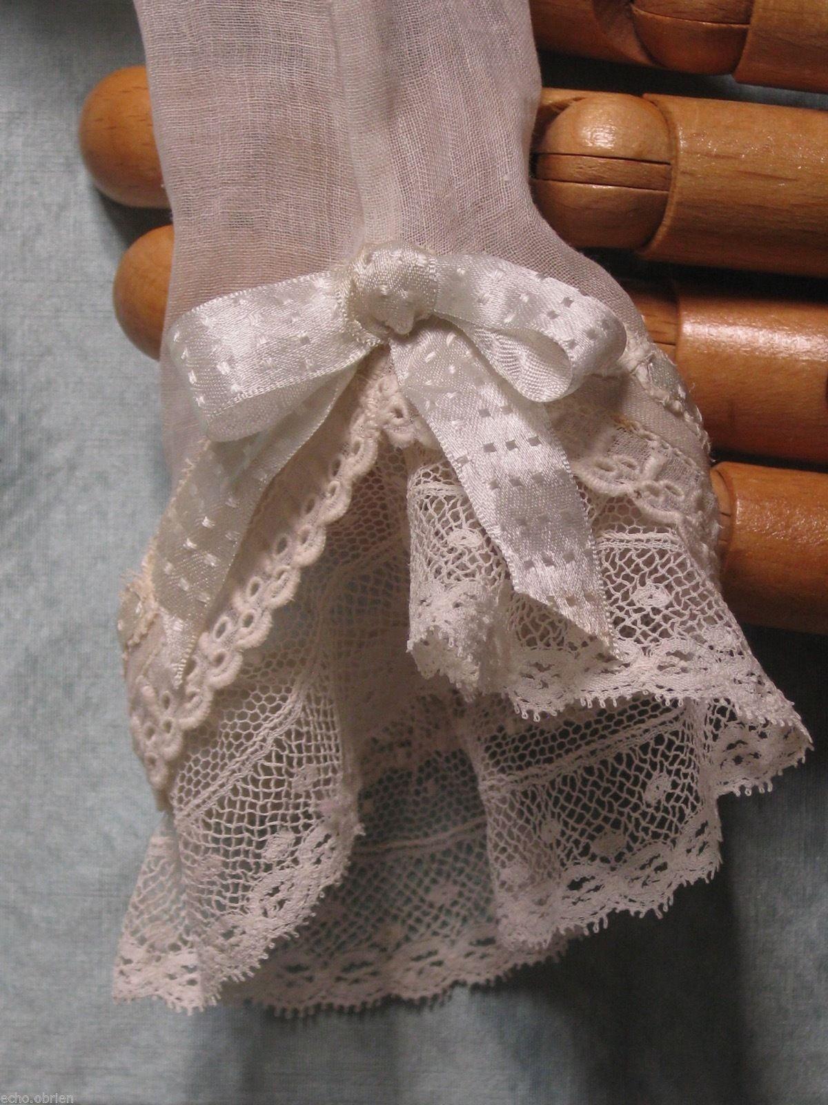 "Antique Sheer Cotton Enfantine French Fashion Blouse 16 18"" Doll Poupee Modele | eBay"