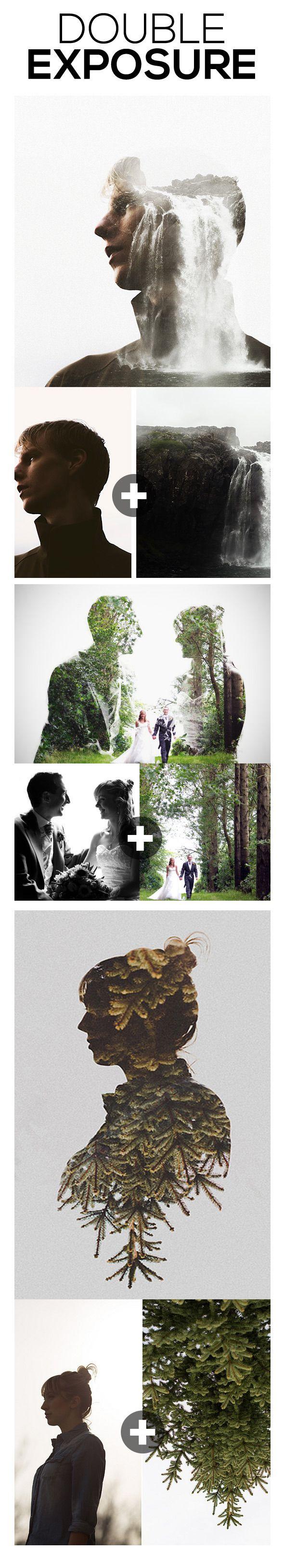 Double Exposure Photoshop Action                                                                                                                                                                                 Más