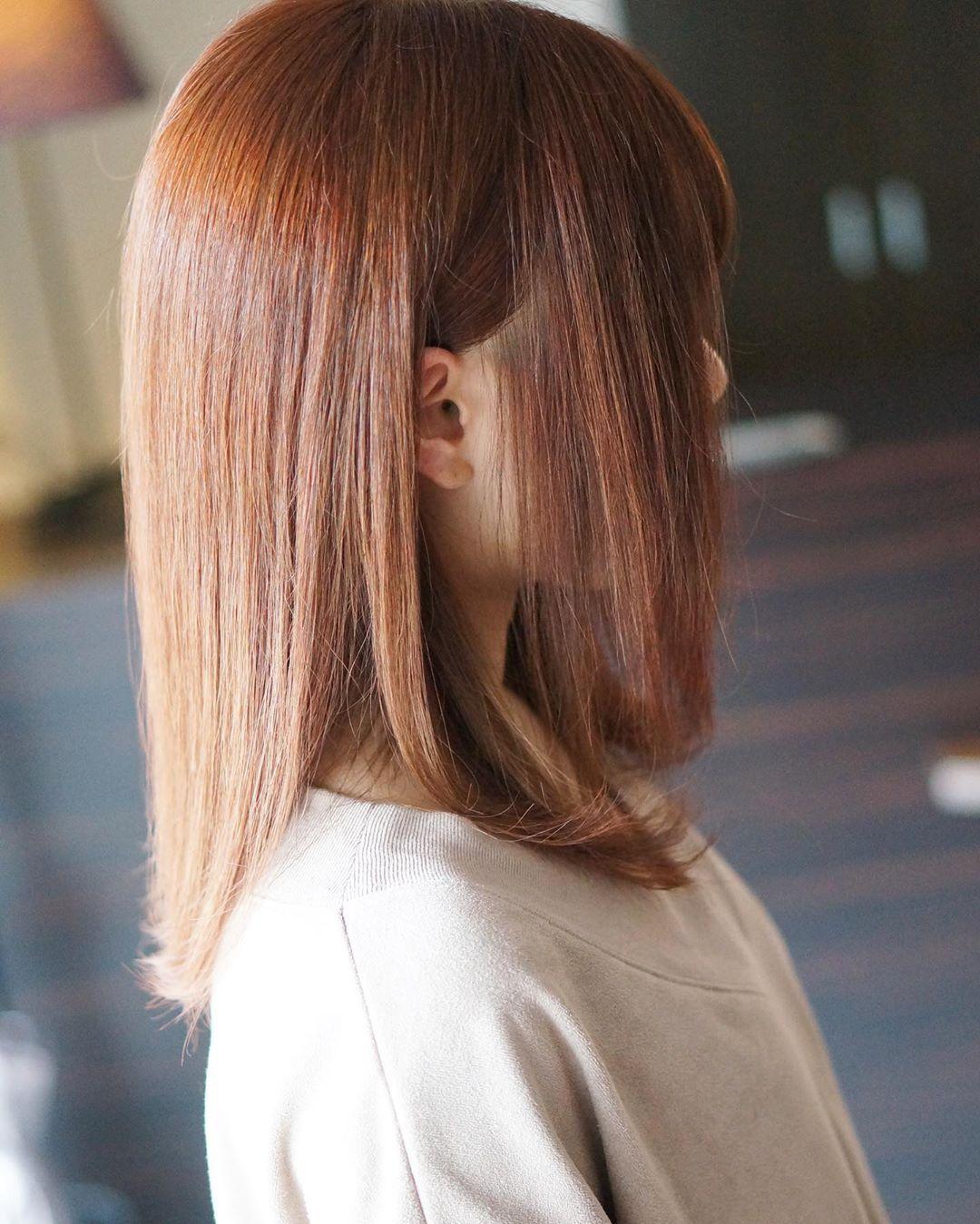 . 暖色系カラーも良いね!! #ヘアカラー #ヘアスタイル #ヘアスタイルミディアム #ミディアムヘア #暖色系カラー #オレンジカラー #haircolor …