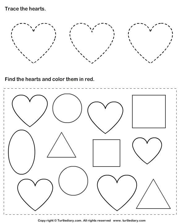 Geometric Shape Bingo Printable Card: Heart, Diamond, Oval ...