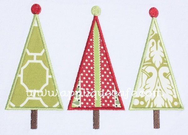 Christmas Tree Applique Design Dekoration Stoff