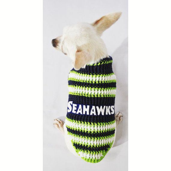 Seattle Seahawks Dog Costumes Football Dog Jerseys NFL Puppy Clothes ...