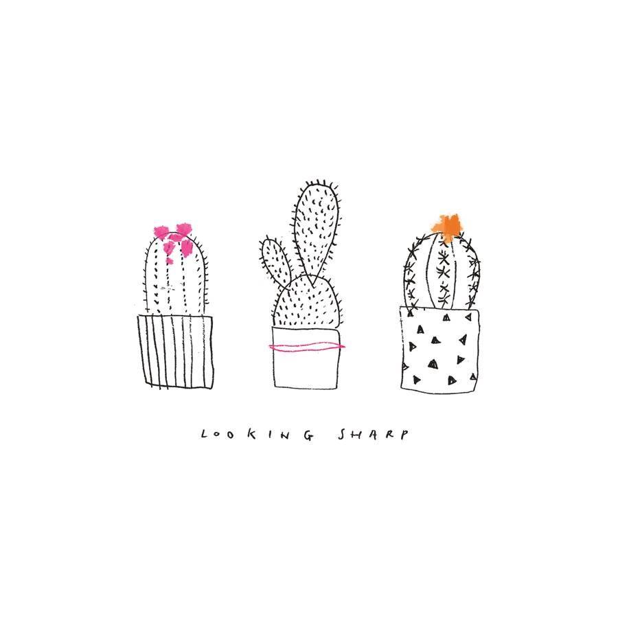 pin von design living diy auf kaktus freunde kaktus illustration kaktus und illustration. Black Bedroom Furniture Sets. Home Design Ideas