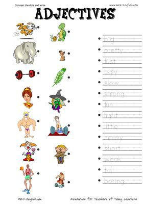 Adjectives Worksheets Appearance Pdf