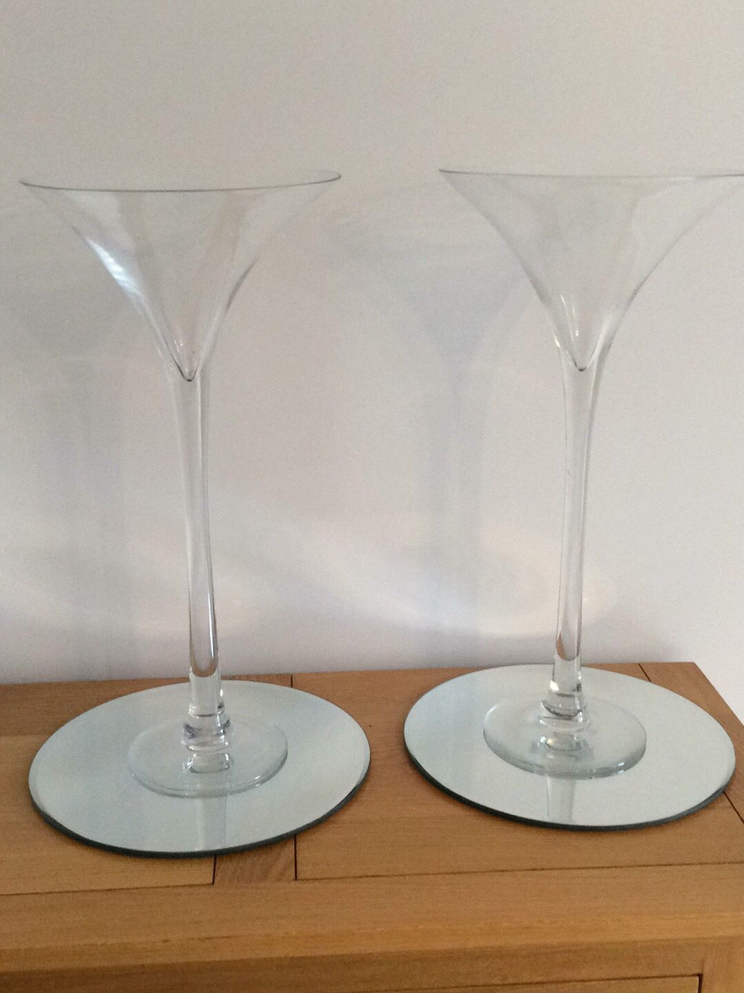 Large martini glass centrepiece glasses for hire Tall 50cm ones ...