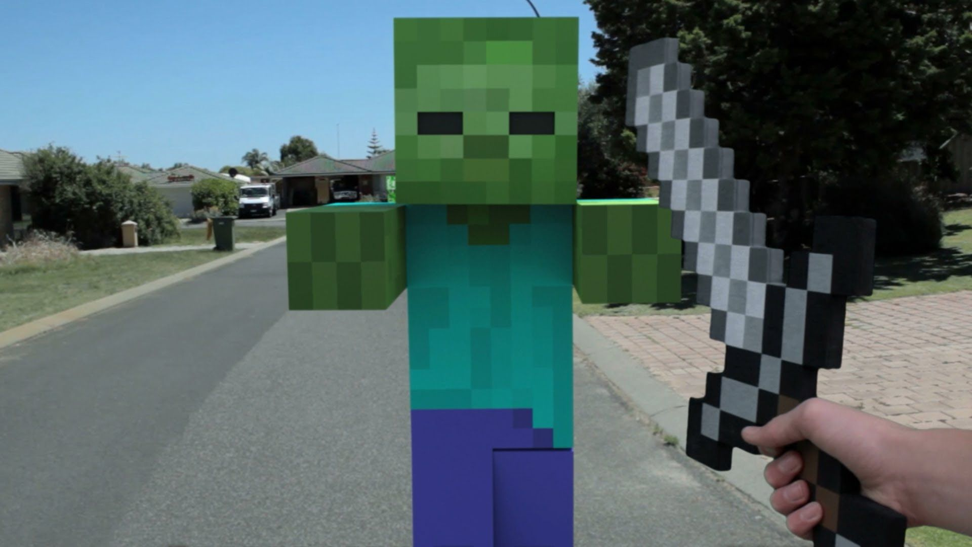 Minecraft in real life first person a youtuber named