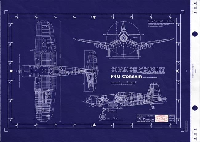 F4U Corsair Blueprint <3