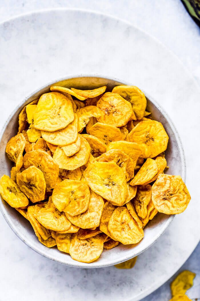 Air fryer Plantain Chips (Kerala Banana Chips) Recipe in