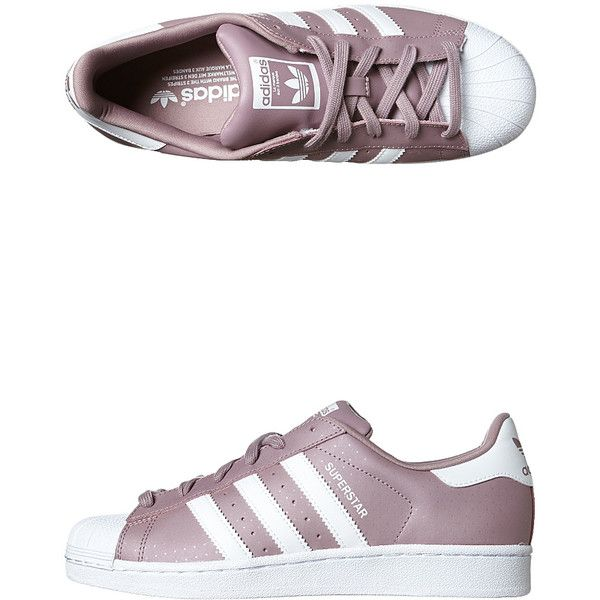 Adidas Originals Superstar Shoe ($90) ❤ liked on Polyvore featuring shoes,  purple white