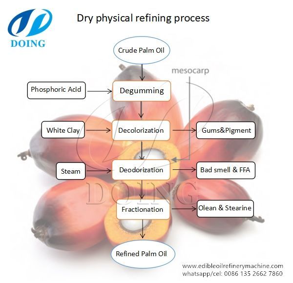 Physical Refining Method  Palm Oil Refining Process Flow Chart