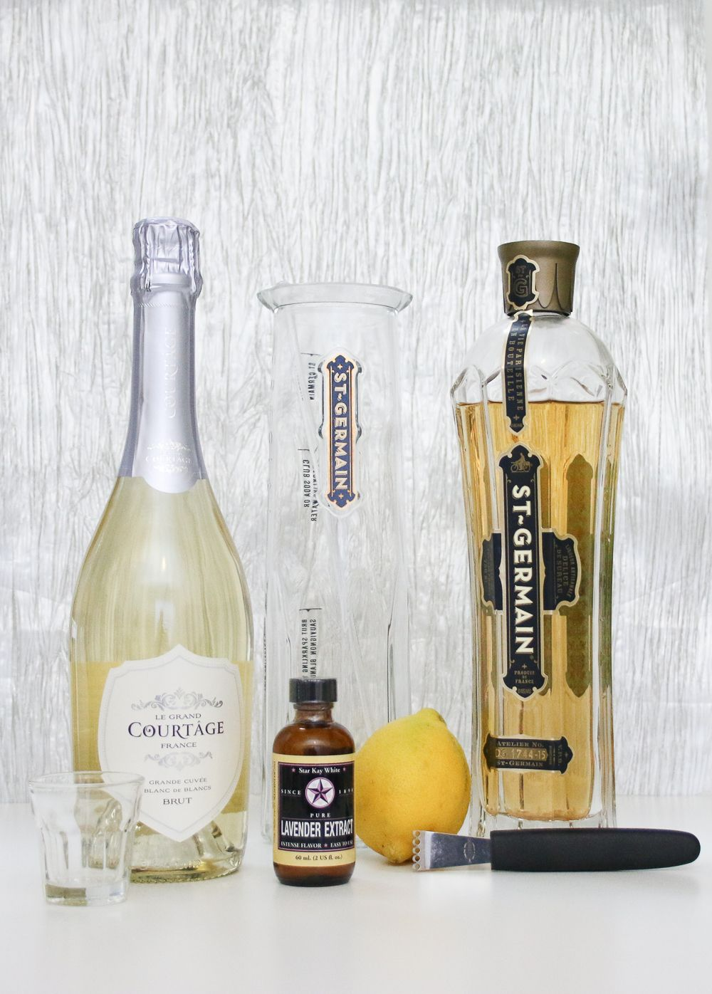 Lavender Champagne Cocktail Wedding signature drinks