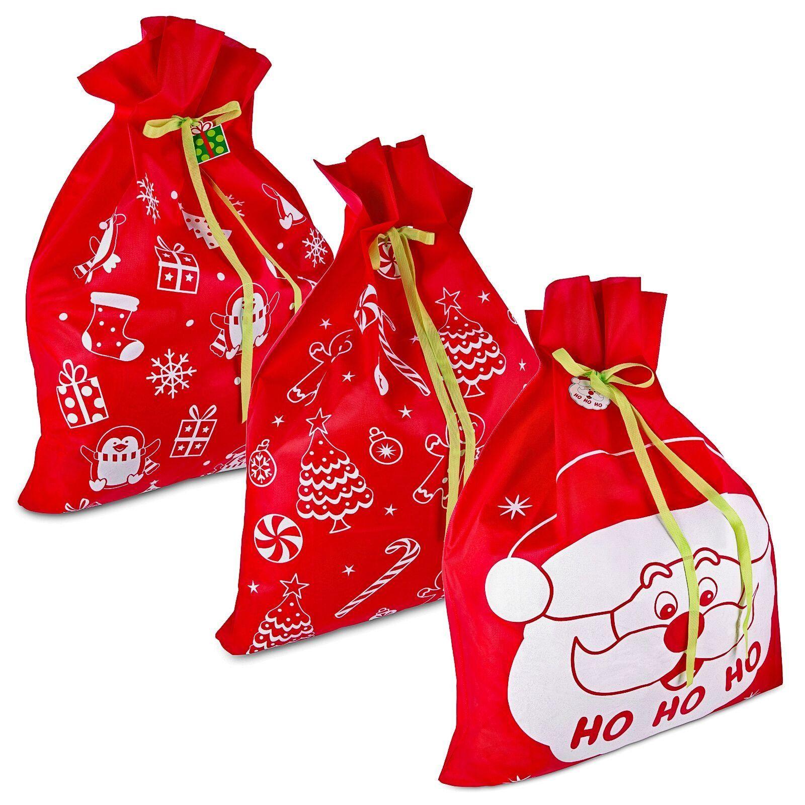 3 giant christmas gift bags 36 x 44 reusable made of