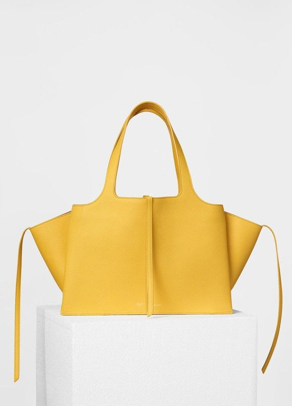 Small Tri-Fold Shoulder Bag in Baby Grained Calfskin - Céline  f14e87c20bd28