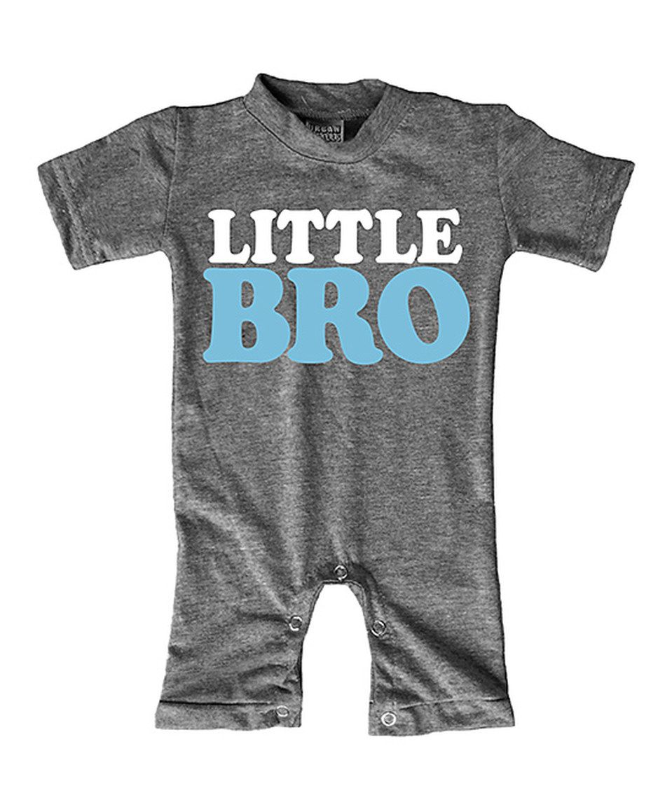 Another great find on #zulily! Urban Smalls Heather Gray 'Little Bro' Romper - Infant by Urban Smalls #zulilyfinds