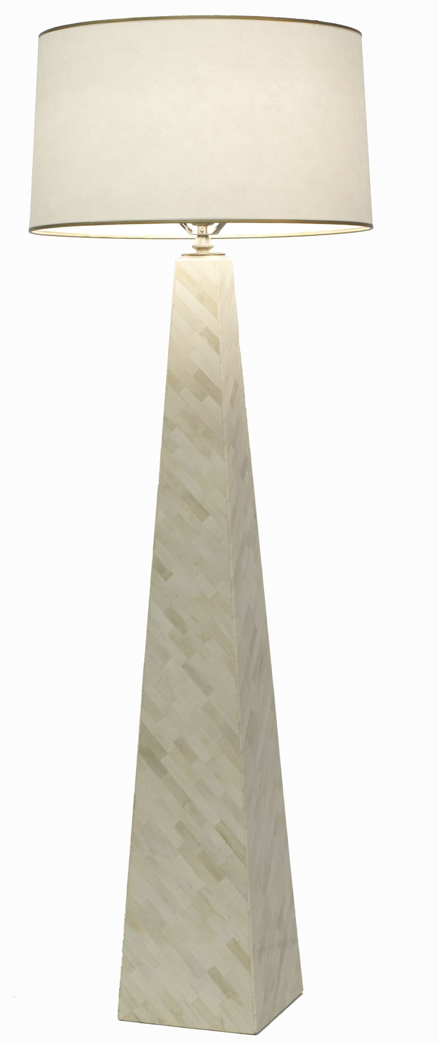 This striking floor lamp has a narrow pyramid shape with a diagonal this striking floor lamp has a narrow pyramid shape with a diagonal pattern of camel bone mozeypictures Gallery