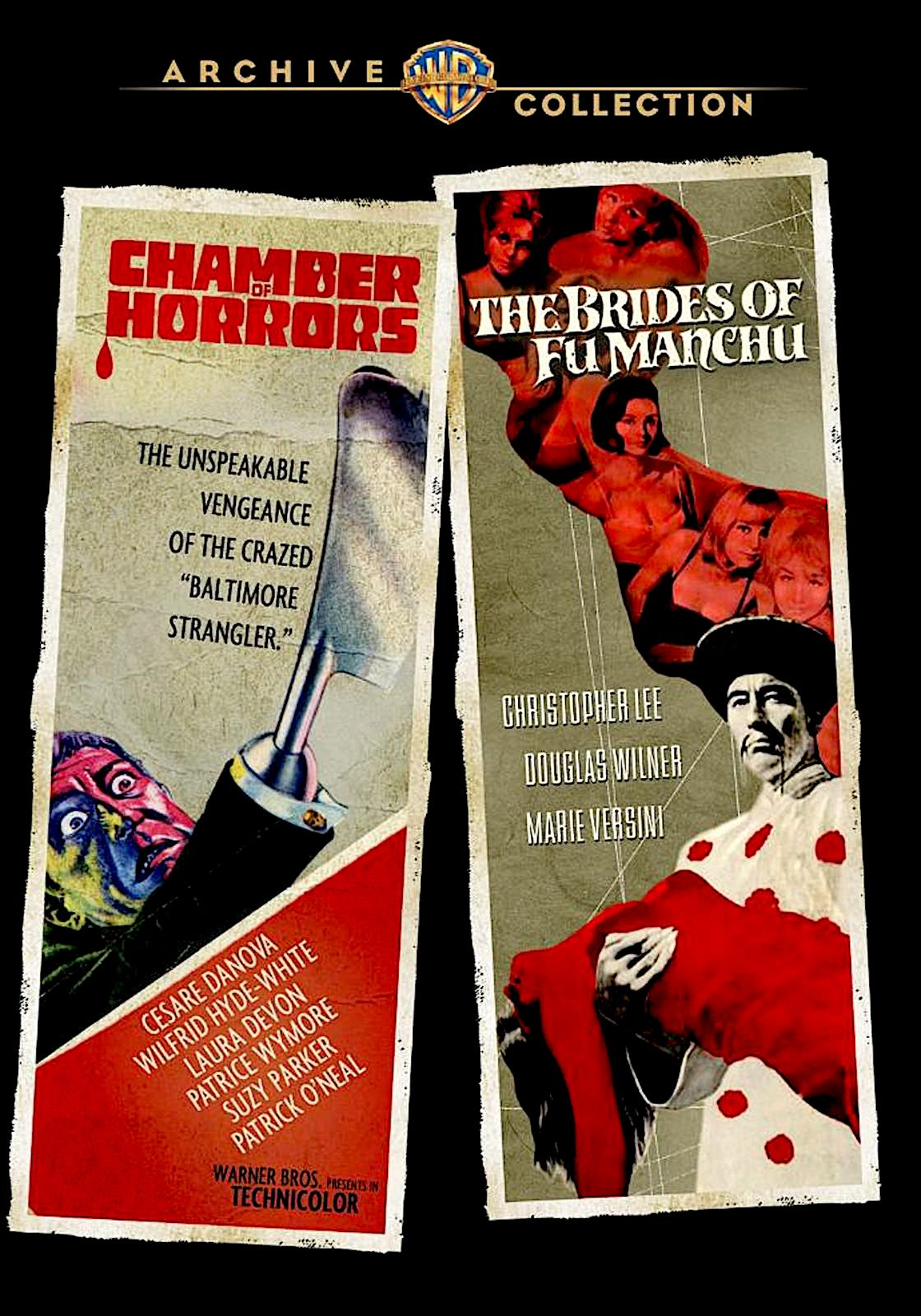 CHAMBER OF HORRORS / THE BRIDES OF FU MANCHU DVD (WARNER