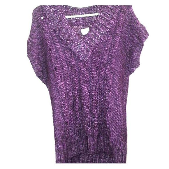 Purple sweater shirt/dress This purple short sleeve shirt can be used as a short dress as well when you put leggings on underneath . It's XL but can fit as a L Mudd Sweaters