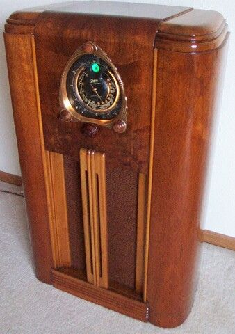 Zenith 1937 7s260 Console Radio Antique Radio Vintage Radio Retro Radios