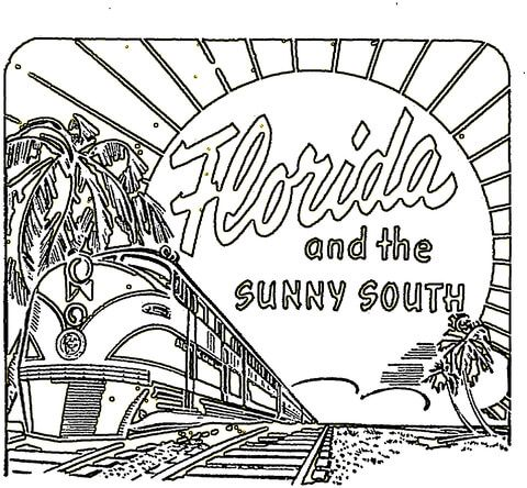 Card From Florida Coloring Page Flag Coloring Pages Coloring