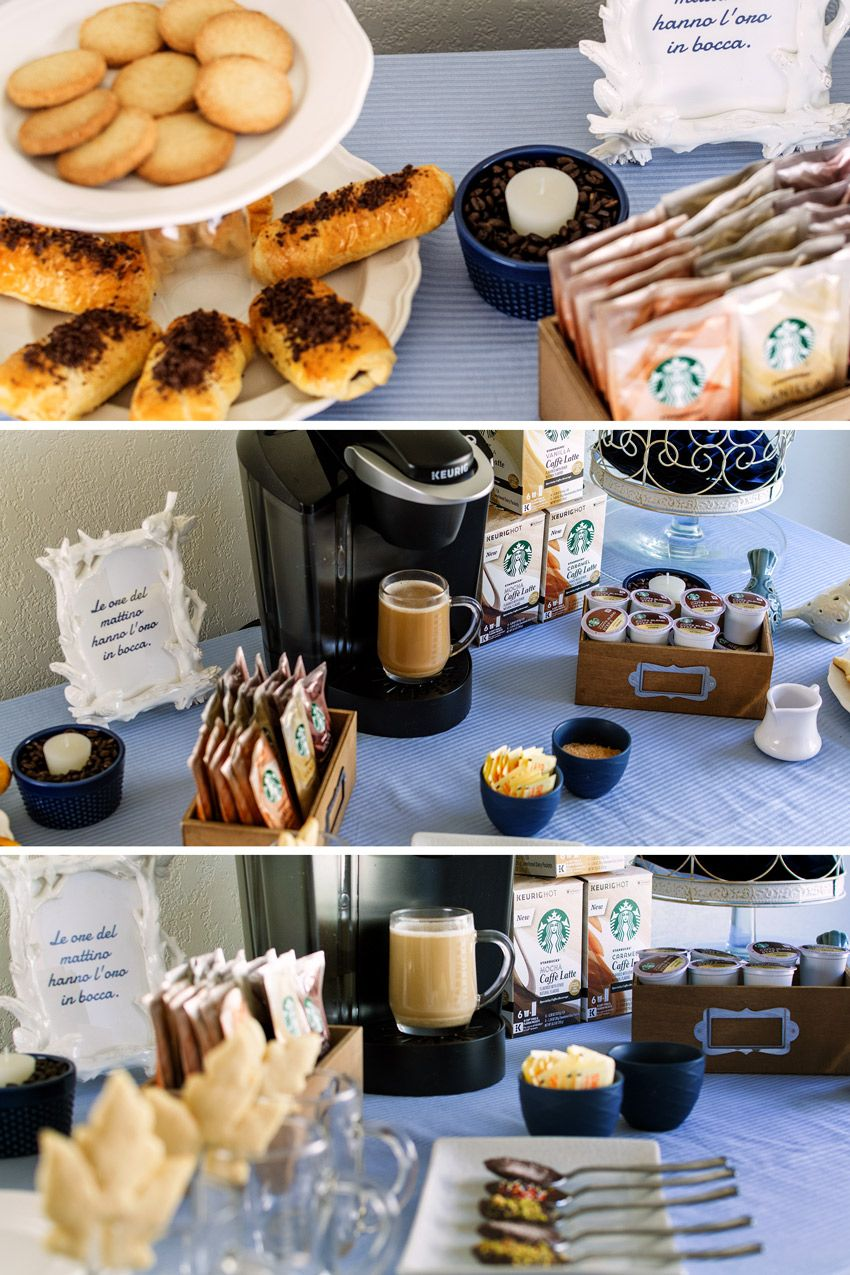 6 Simple And Cute Coffee Party Ideas Will Make You Think Of Italian Coffee Bars 07 Coffee Party Coffee Bar Party Italian Coffee