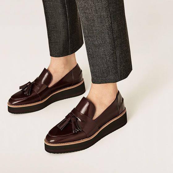 5a9c4083834 Image 6 of FLATFORM LOAFERS from Zara