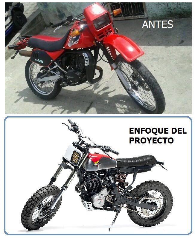 Proyecto Suzuki Ts 125 Tracker Clav Custom Retro Garage Motos