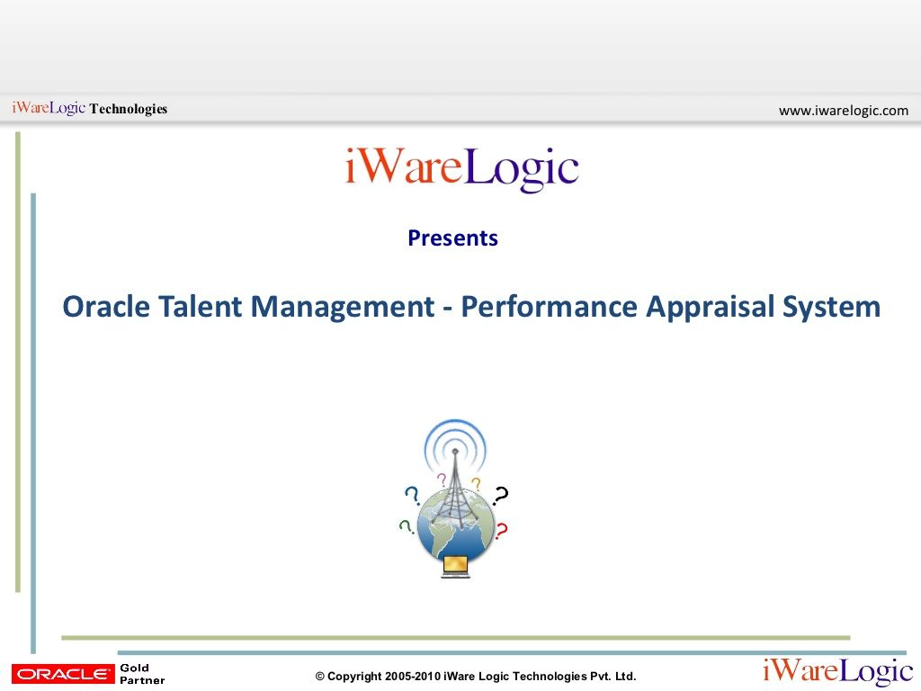 Oracle Talent Management Performance Appraisal System By Iware