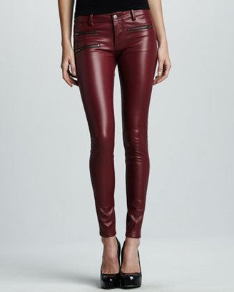 511d99989e ShopStyle: Parker Faux-Leather Pants, Burgundy #shopstylefavorites ...