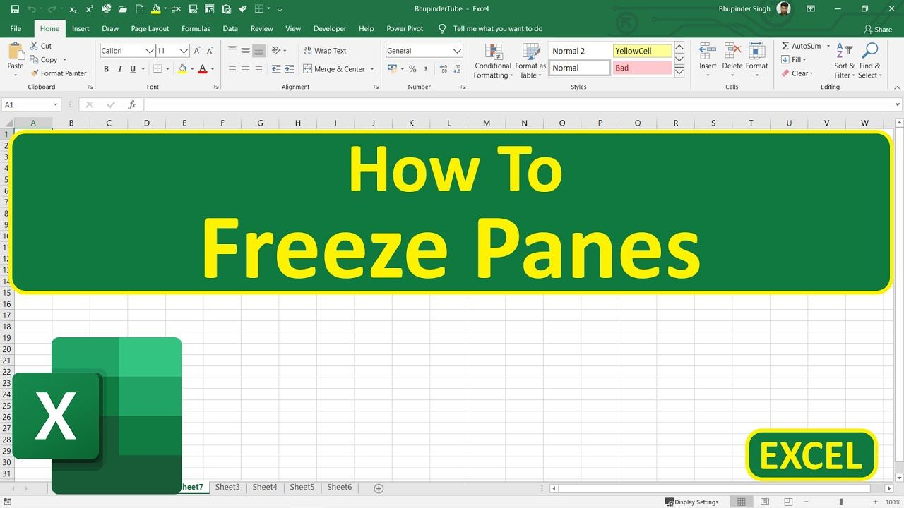 How To Freeze Panes In Excel Excel Microsoft Excel Tutorial