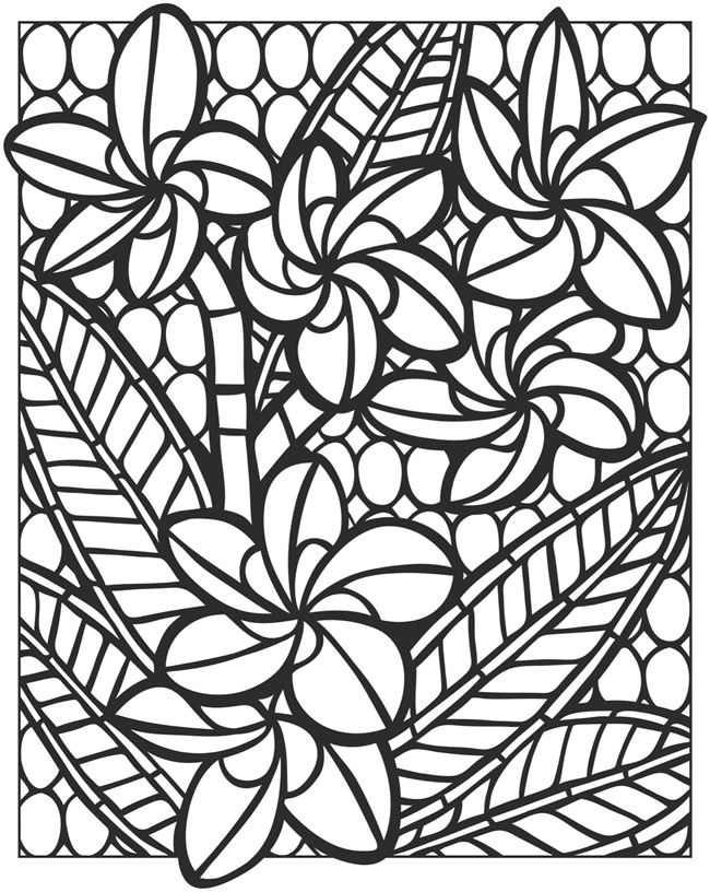 Welcome to Dover Publications Creative Haven Floral Mosaics Coloring ...
