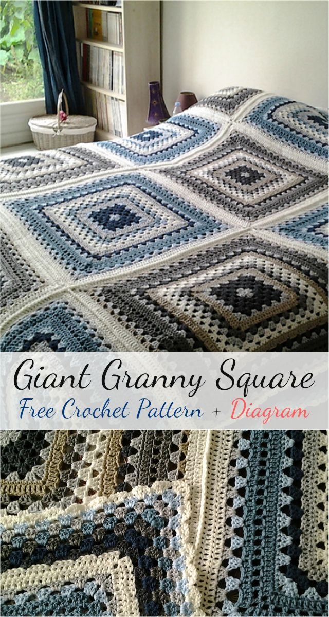Free crochet pattern giant granny square diagram almofada mes free crochet pattern giant granny square diagram almofada mes e croch ccuart Gallery