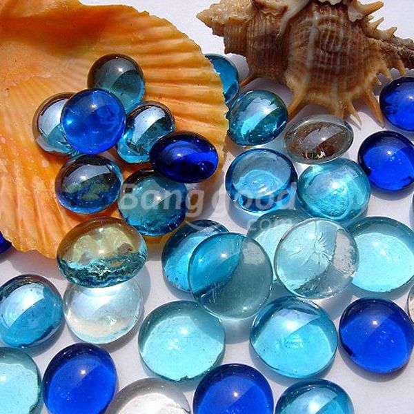 Marble Balls Decoration 10X Gorgeous Glass Marbles 14Mm Beads Balls Fish Tank Decoration