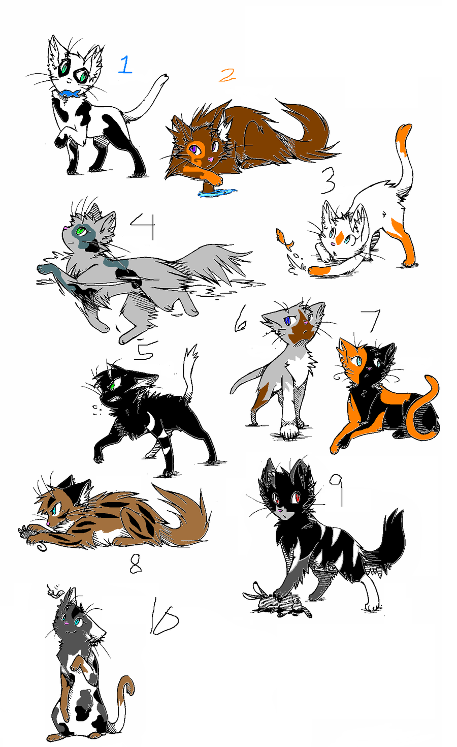 warrior cat pictures and names Honeyclan [open for