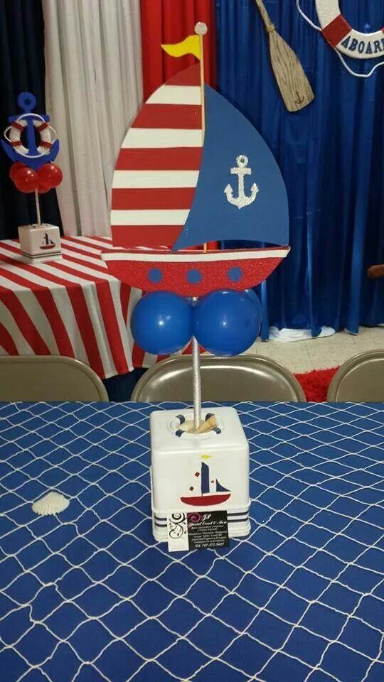 Centro de mesa nautica party pinterest for Como hacer un centro de mesa facil