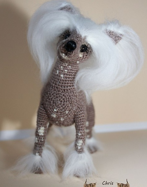 105 Crochet Pattern Chinese Crested Dog