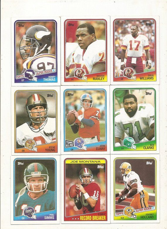 91 Old Vintage 1988 Topps Football Picture Cards In 2019 Products