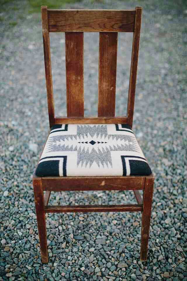 An Incredibly Solid And Evocative Piece Of American History Featuring A Soft Pendleton Wool Seat With Navajo Motif Tall Depth