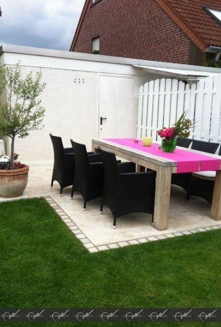 Schöne Terrassenplatten aus Travertin Medium Great #wohnrausch - auswahl materialien terrassenuberdachung