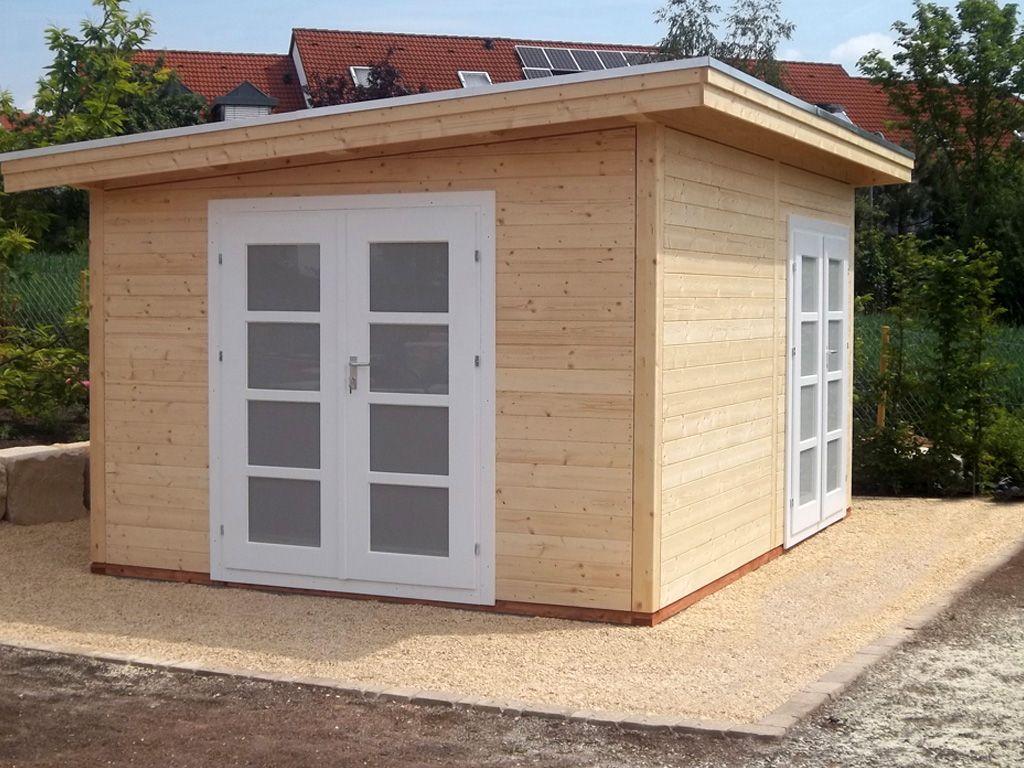 Holzhaus mit Pultdach, 4,0 x 3,0 m, Robert Geiger GmbH