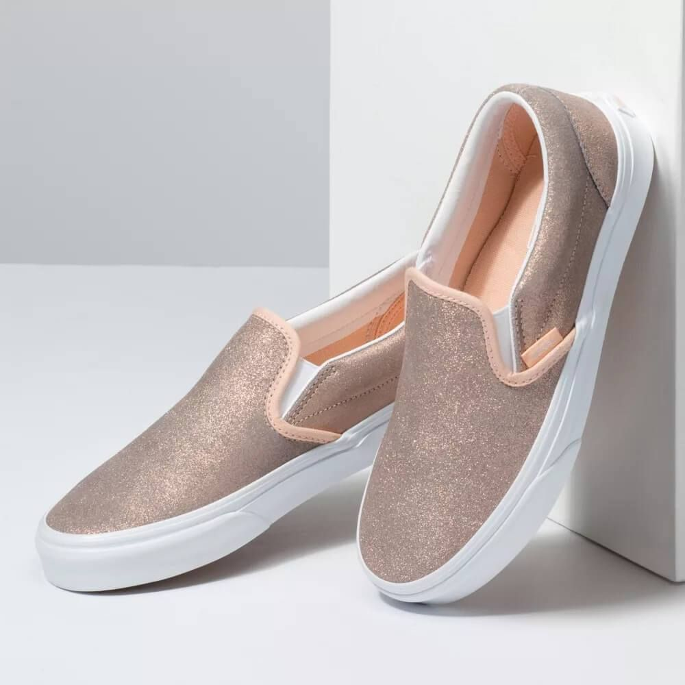 Vans Shoes Classic Slip-On in Rose Gold