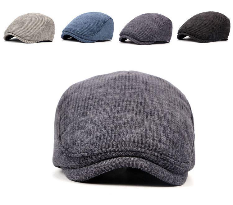 a206833bd Knitted Warm Beret Hat for Men - Blue,Dark Purple,Khaki,Black in ...